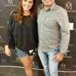 O empresário Armando Araújo ao lado da atriz Paloma Bernardi