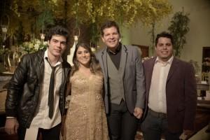 Pianista Rafael Maia, Natália Teixeira, Gustavo Serpa e DJ Mor. Foto: Clécio Albuquerque